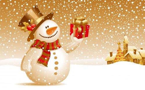 muneco de nieve 11 e1356129436840 Imágenes tiernas de muñecos de nieve