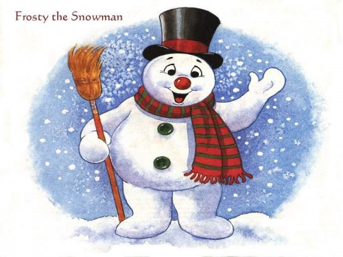 muneco de nieve 2 e1356129542855 Imágenes tiernas de muñecos de nieve
