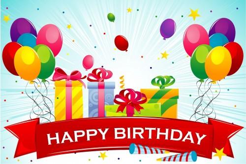 postal de cumpleaños con mensaje happy birthday para compartir e1356528467424 Postales tiernas de cumpleaños