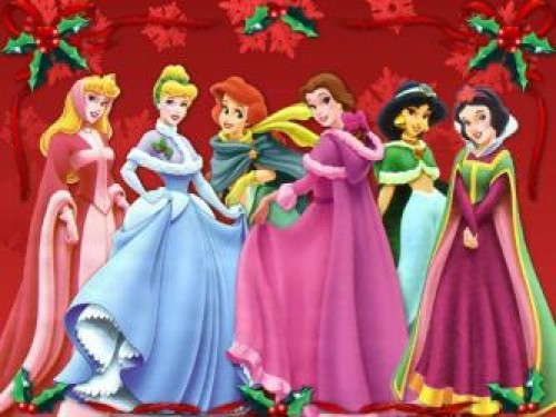 princesas disney con deco 4b1545895994f p e1354376270696 Imágenes de Navidad Disney