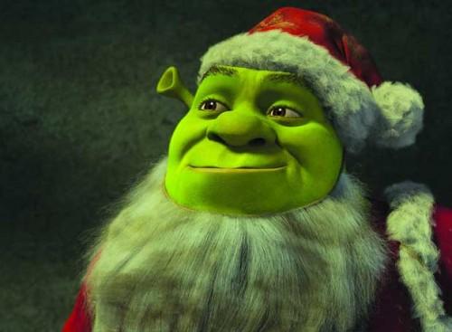 shrek navideño e1356192952345 Imágenes bonitas de Shrek en Navidad