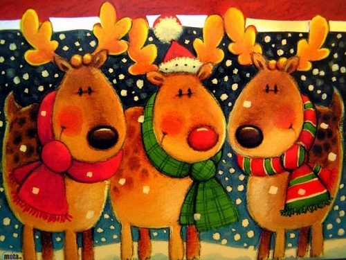 tres amigos renos 594467 t0 Imágenes tiernas de los renos de Santa
