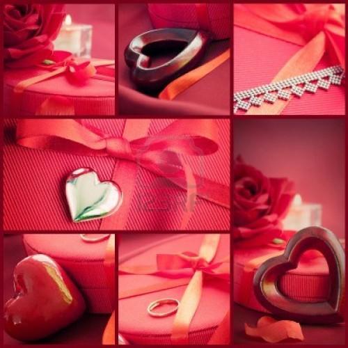 11941753 san valentin serie collage de lujo simbolos de san valentin vacaciones de lujo mesa con bellos coraz e1359560376827 Feliz San Valentín   Día de los enamorados   14 de Febrero
