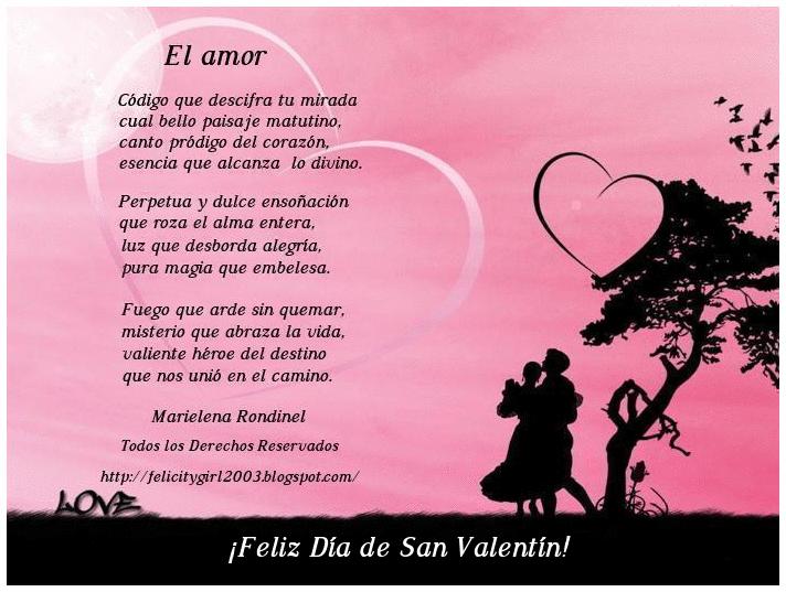 Poema El amor Imágenes de poemas para el día de San Valentín