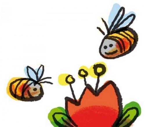 flor y abejas e1359537360752 Imágenes Bonitas de Abejas y Flores