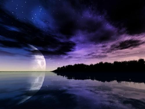 paisajes nocturnos romanticos
