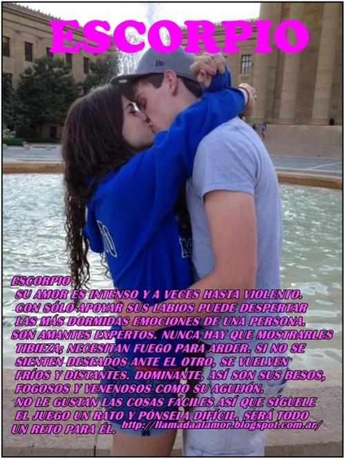 BESUCONESCORPIO 1 Besos según tu signo