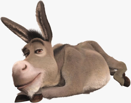 burro de shrek echado Imágenes Tiernas del Burro de Shrek