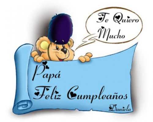 tarjeta e1360601023354 Postales para desear Feliz Cumpleaños Papa