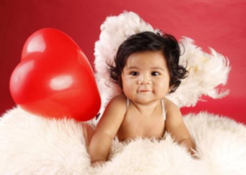 tumblr lfxhoywLRy1qeh465o1 400 Imágenes Bonitas de Bebes con disfraces de Cupido