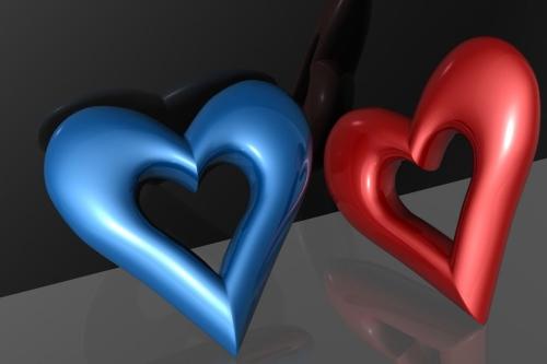 00521 love 1600x1200 Imágenes de Corazones 3D