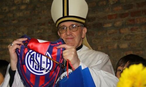 Jorge Mario Bergoglio Papa Francisco I San Lorenzo Almagro ALDIMA20130313 0011 16 Habemus Papam