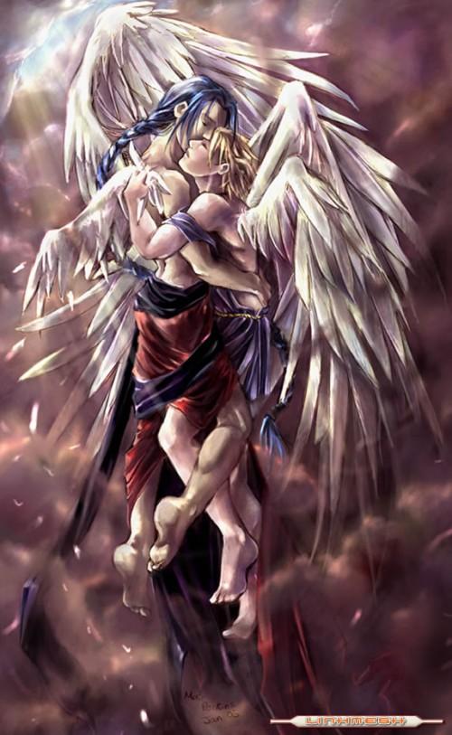 angeles enamorados 39860 e1362495172590 Imágenes Románticas de Angeles Enamorados
