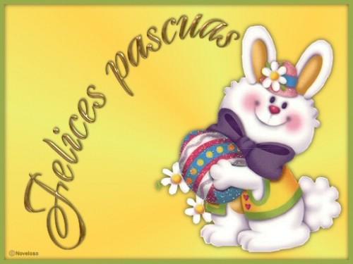 conejo de pascua e1363808217728 Imágenes para Desear Felices Pascuas