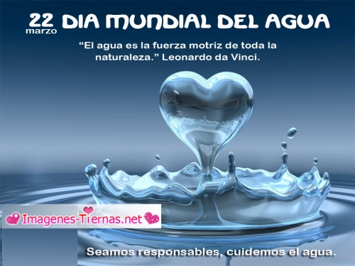 dia mundial del agua 22 de Marzo Día Mundial del Agua