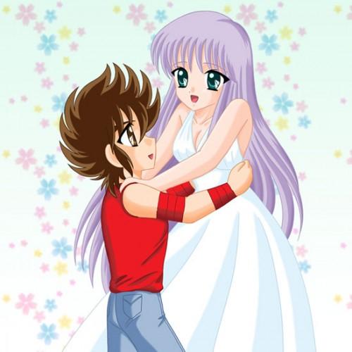 seiyasaori7 e1362164699449 Imágenes Romanticas de Seiya y Saori