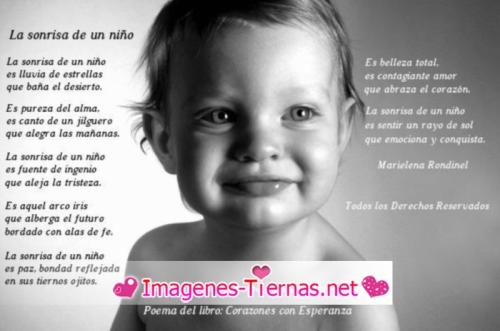 La sonrisa de un niño Corazones con esperanza Imagenes Tiernas de Niños Sonriendo