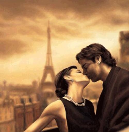 beso paris Imágenes Románticas de París