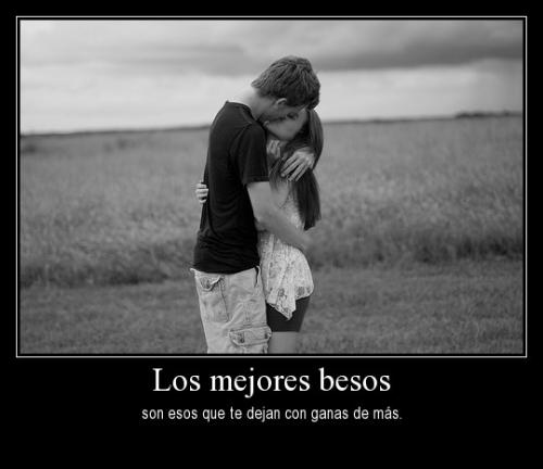 """los mejores besos son esos que te dejan con ganas de mas desmotivaciones de amor Imágenes Románticas de """"Los mejores besos"""""""