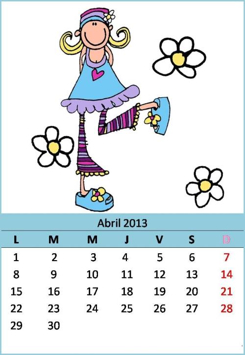 rayito de colores calendarios 2 Calendarios del mes de Abril 2013