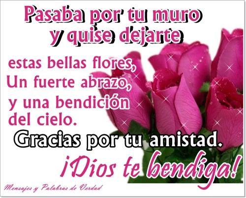 rosas con frase de amistad Imágenes con Frases de Amistad para Facebook
