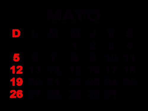 5mayo2013 Calendarios del mes de Mayo 2013