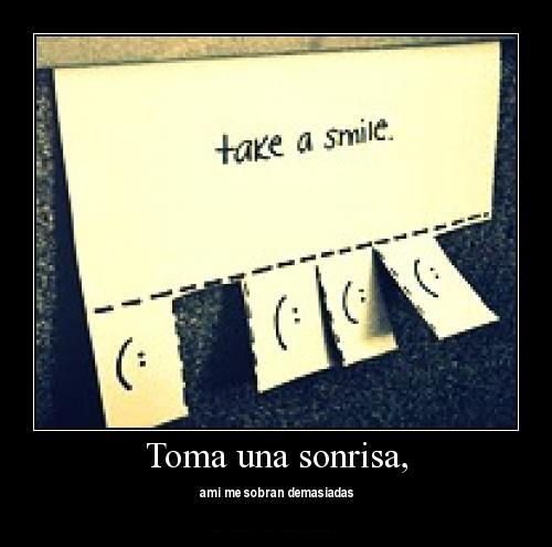 takeasmile 1 Toma una Sonrisa