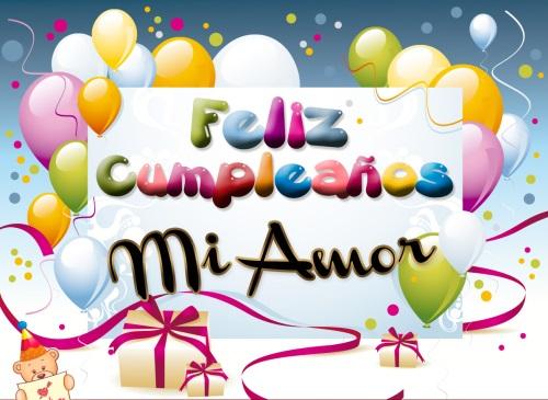 tarjetas de cumpleanos con globos miamor Imágenes para desear Feliz Cumpleaños Mi Amor
