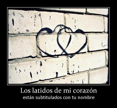 6597 los latidos de mi corazon Tu Nombre en mi Corazón