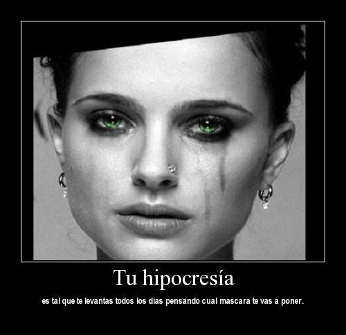 mascaracorrida Imágenes para Facebook con dedicatoria a los Hipócritas