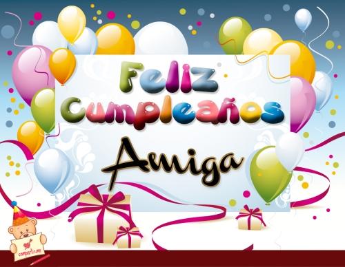 tarjetas de cumpleanos con globos amiga Imágenes Lindas para desear Feliz Cumpleaños Amiga