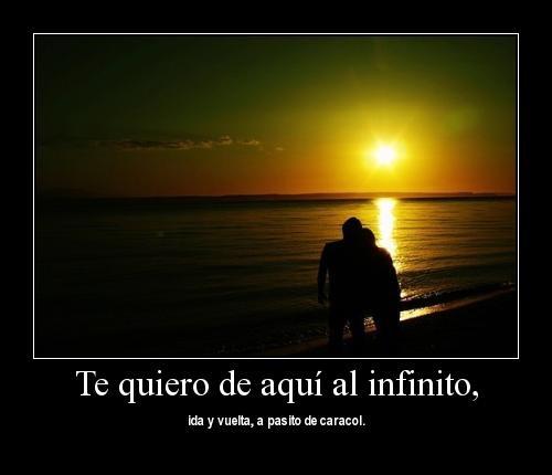 dimecomo 1 Te amo de aquí al infinito