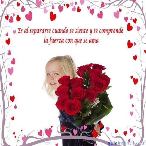 1658 4 nina con rosas frases de amor para motivar Imágenes con frases Románticas