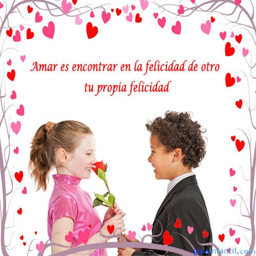 1662 4 ninos enamorados frases de amor para motivar Imágenes con frases Románticas