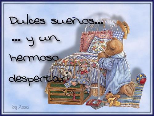 Dulces sueños mi amor (Imagenes para Facebook)