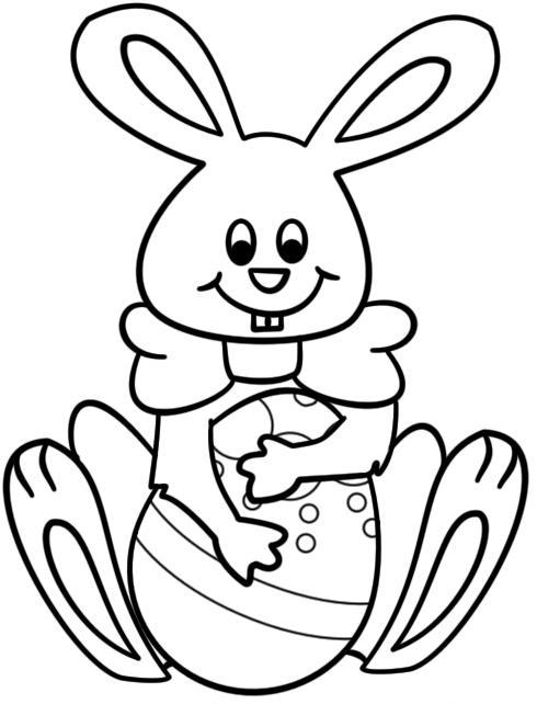 pintar+conejos+de+pascua Conejito de Pascua para colorear