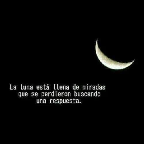 la luna esta llena de miradas La luna del amor