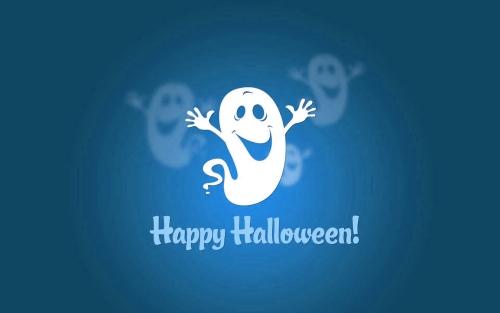 little ghost wishes you happy halloween Happy Halloween 2014