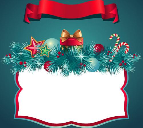 Marco para tarjetas de Navidad Postales para navidad