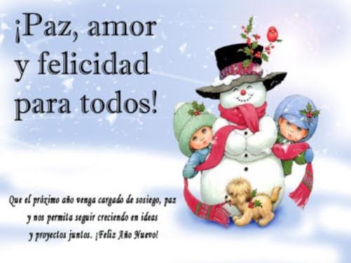 tarjetas feliz navidad paz amor y felicidad para todos  Imágenes de amor navideño