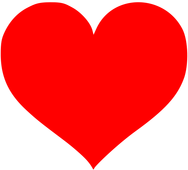 corazon dibujado perfecto