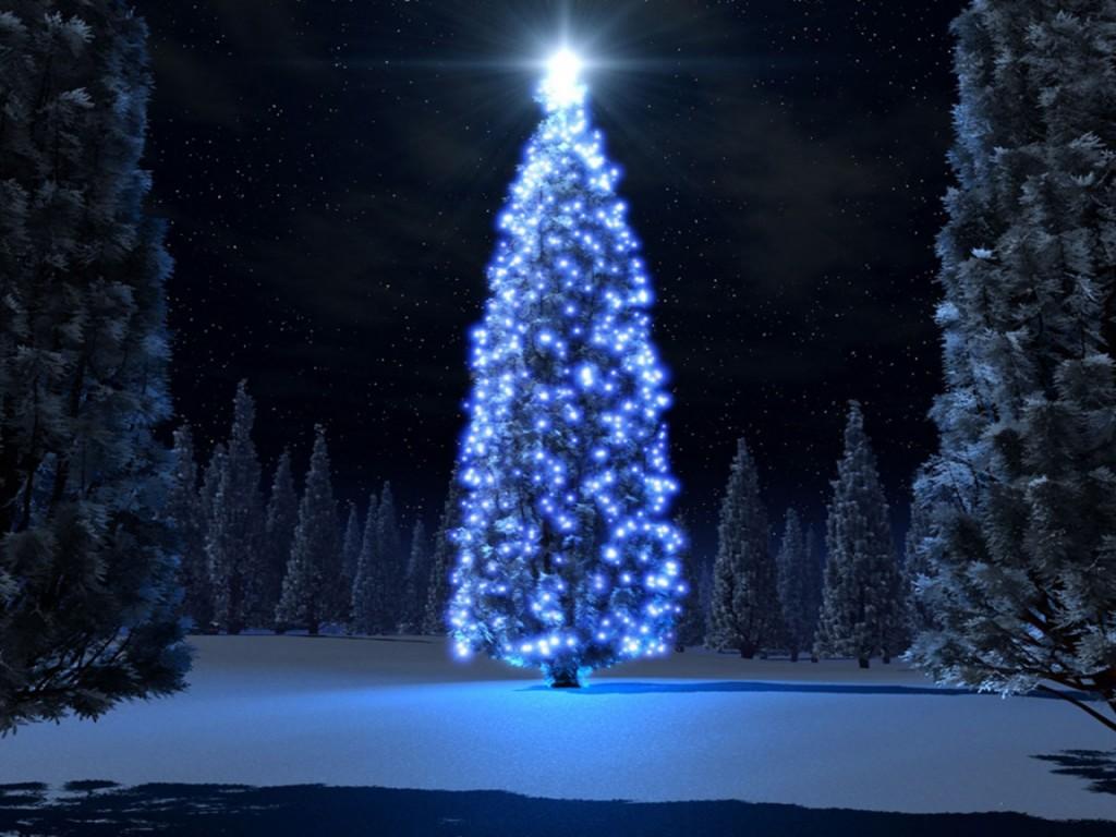 postales de navidad arbolito luminoso