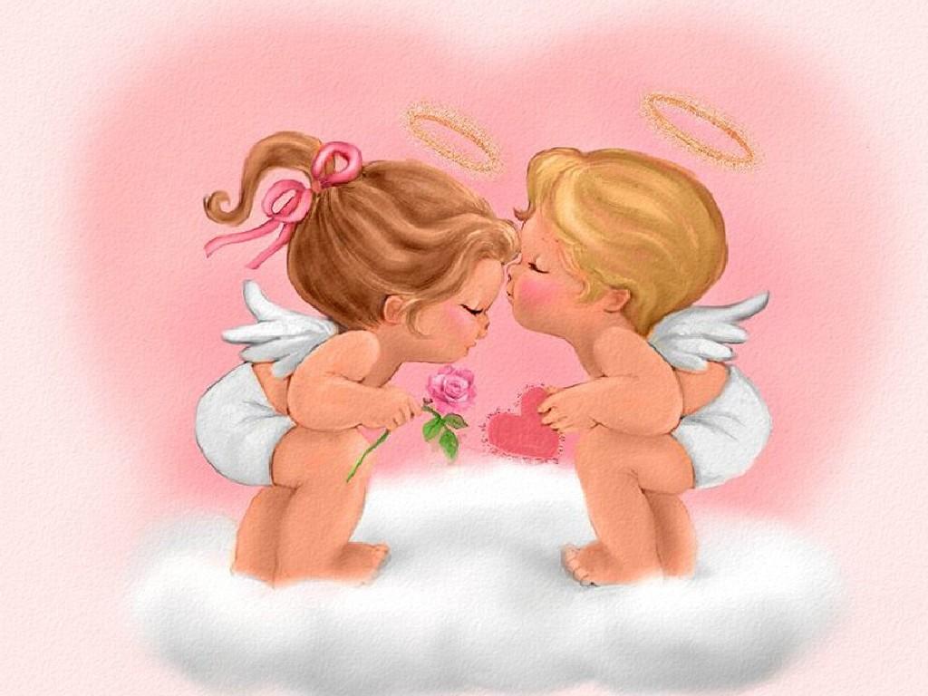 Imagen de angelitos enamorados