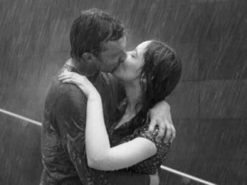 Imagen romantica de beso
