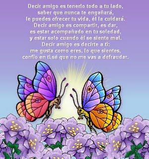 imagen de amistad con mariposas