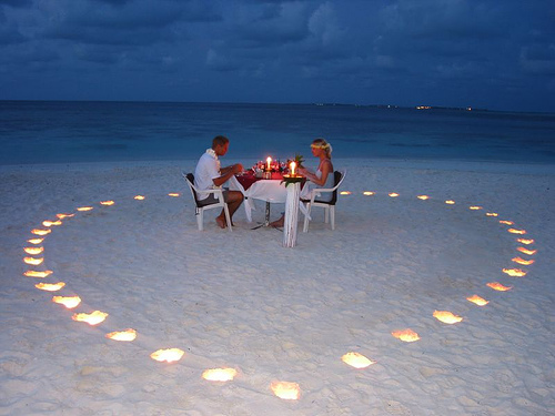 imagenes tiernas de cena romantica para dos