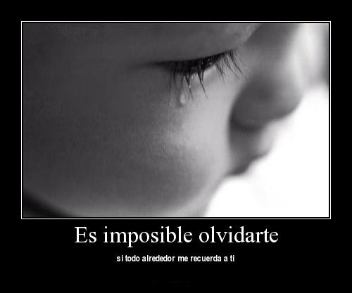 Es imposible olvidarte