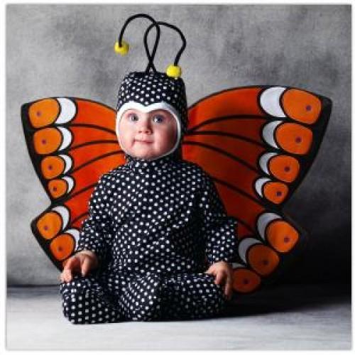 imagen tierna - bebe disfrazado de mariposa