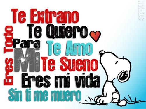 Snoopy enamorado