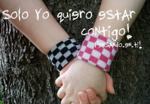 solo quiero estar contigo